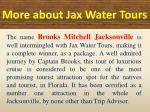 more about jax water tours