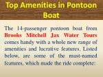 top amenities in p ontoon boat