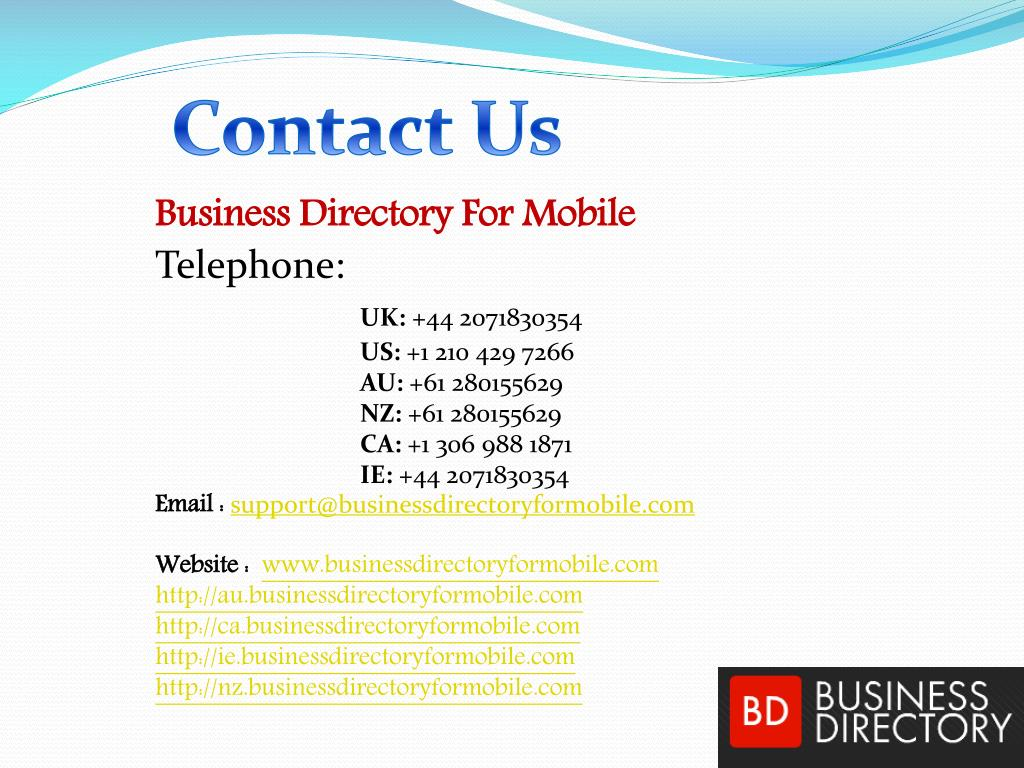 PPT - List Of Mobile Business Directory PowerPoint Presentation - ID
