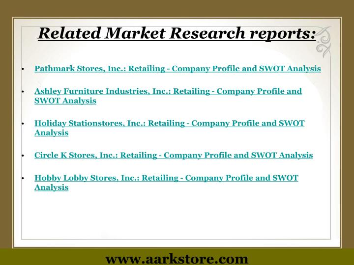 Related Market Research reports: