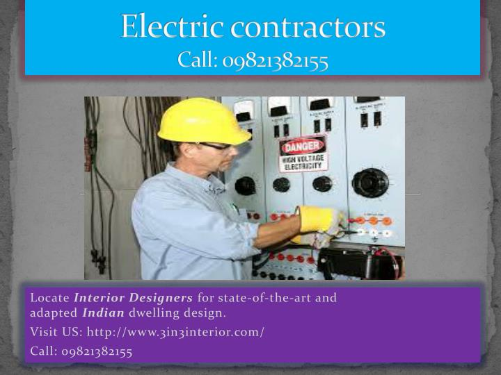 electric contractors call 09821382155 n.