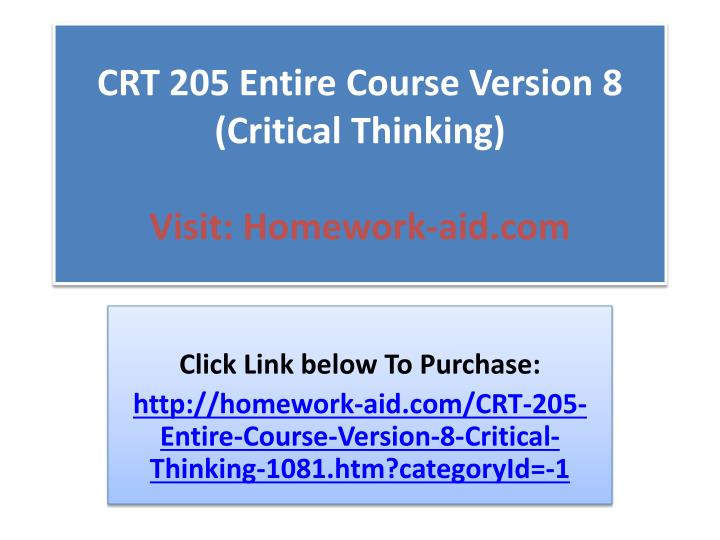 short courses in critical thinking