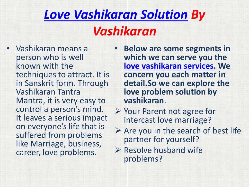 PPT - Love Back Solution | Love marriage Specialist Get Your