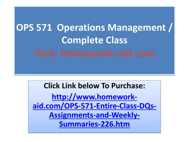 ops 571 operations management