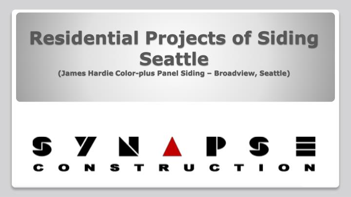 residential projects of siding seattle james hardie color plus panel siding broadview seattle n.