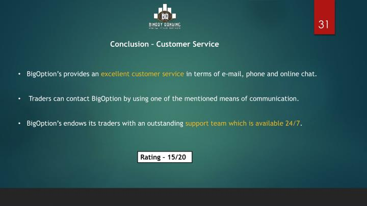 conclusion of customer service This free marketing essay on essay: loyalty and customer retention in the telecoms industry as difficulties in using the self-service customer of essays: if.