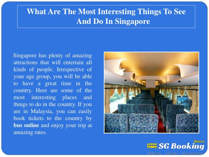 What Are The Most Interesting Things To See And Do In Singapore