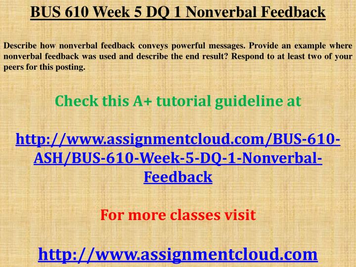 bus610 week 4 discussion 2 Acesuperstar on scribd offers tutorials for over 500+ ashford university courses for this discussion  week 4 writing exercise 2.