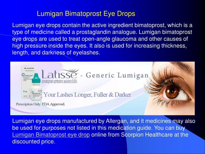 Lumigan Eye Drops Buy Online