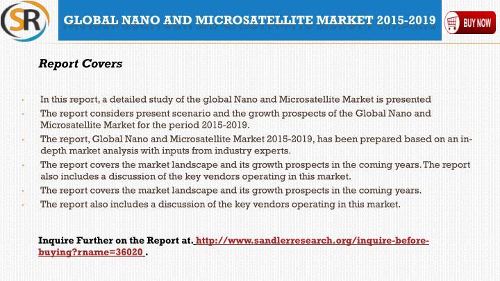 Global nano and microsatellite market 2015 20192