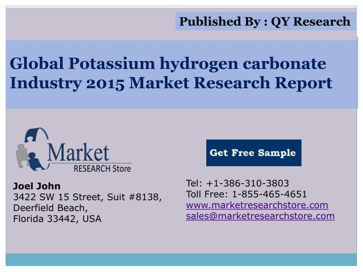 global potassium hydrogen carbonate industry 2015 market research report n.