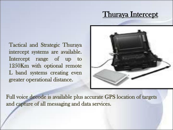 Thuraya Intercept