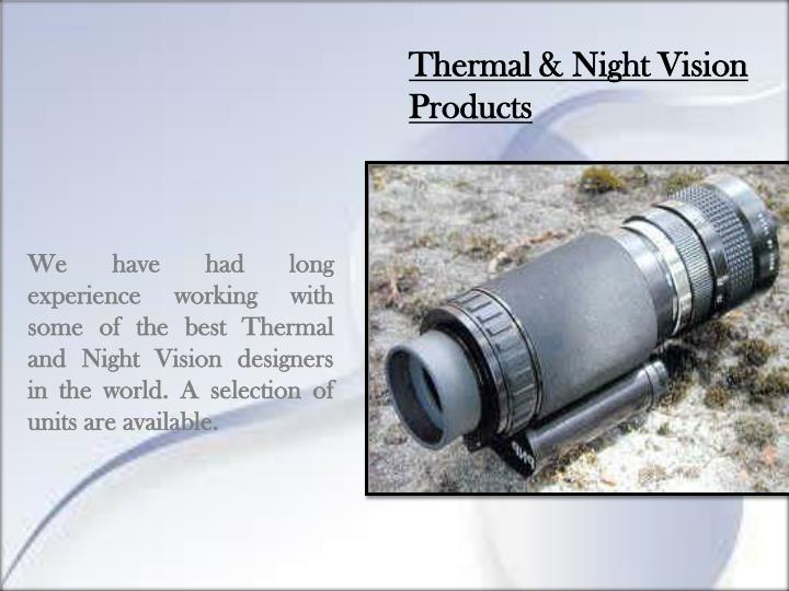 Thermal & Night Vision Products