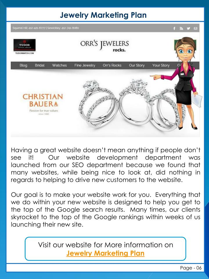 jewellery marketing plan