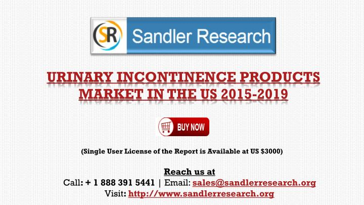 urinary incontinence products market in the us 2015 2019 n.