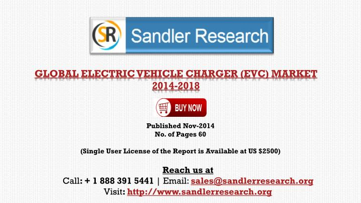 global electric vehicle charger evc market 2014 2018 n.
