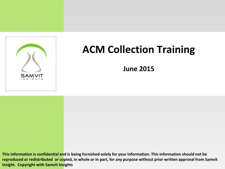 acm collection training june 2015 n.