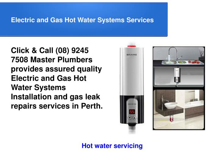 Electric and Gas Hot Water Systems Services