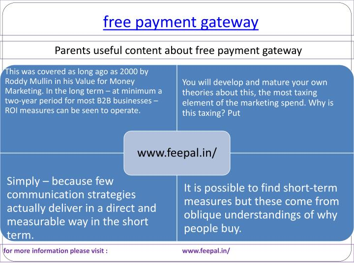 Free payment gateway