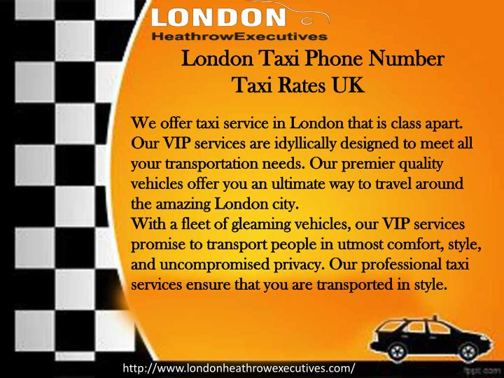 London Taxi Phone
