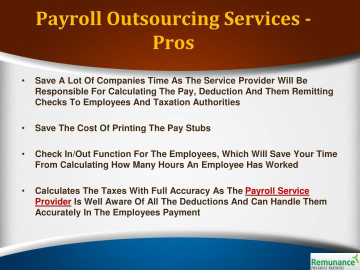 Payroll Outsourcing Services - Pros