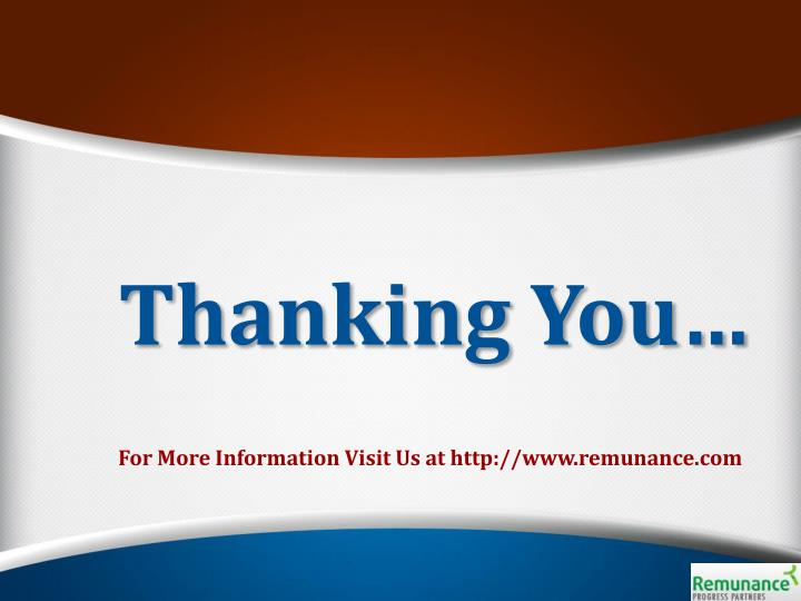 Thanking You…