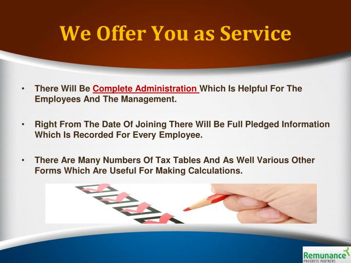 We Offer You as Service