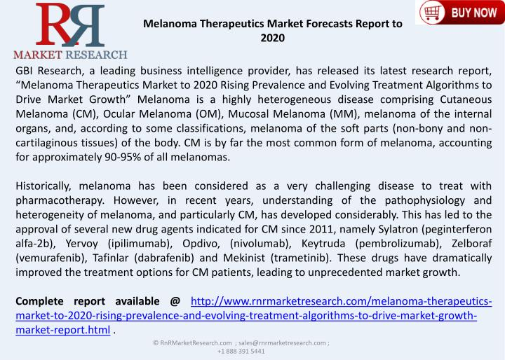 melanoma therapeutics market to 2020