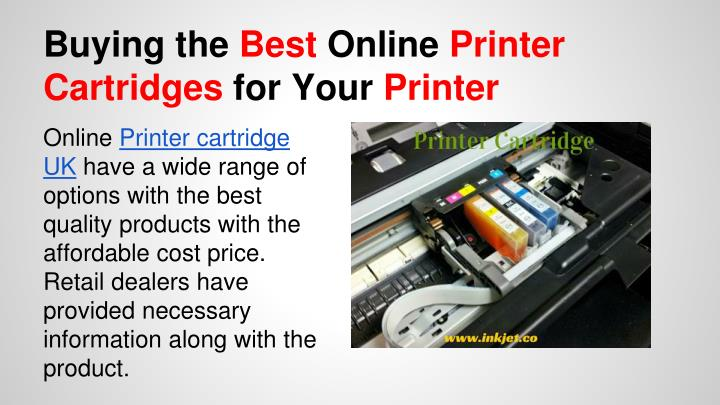 Buying the best online printer cartridges for your printer