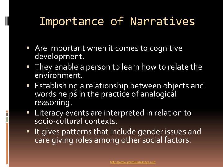 Importance of Narratives