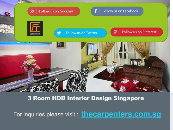 3 Room HDB Interior Design Singapore