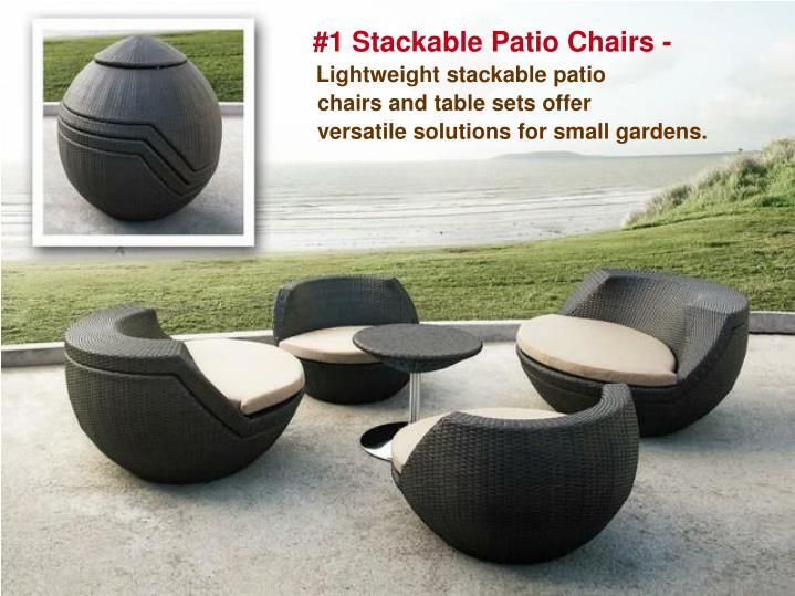 #1 Stackable Patio Chairs -