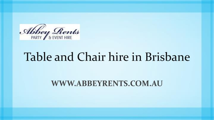 table and chair hire in brisbane n.
