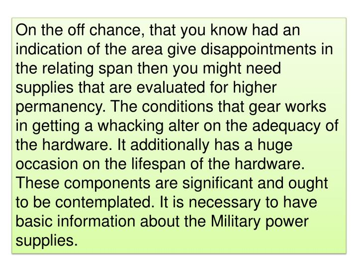On the off chance, that you know had an indication of the area give disappointments in the relating ...