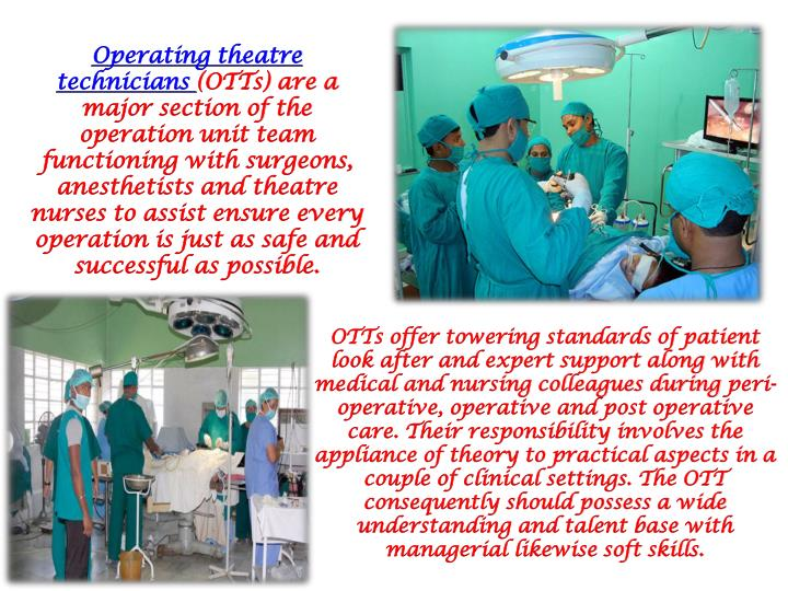 Operating theatre technicians