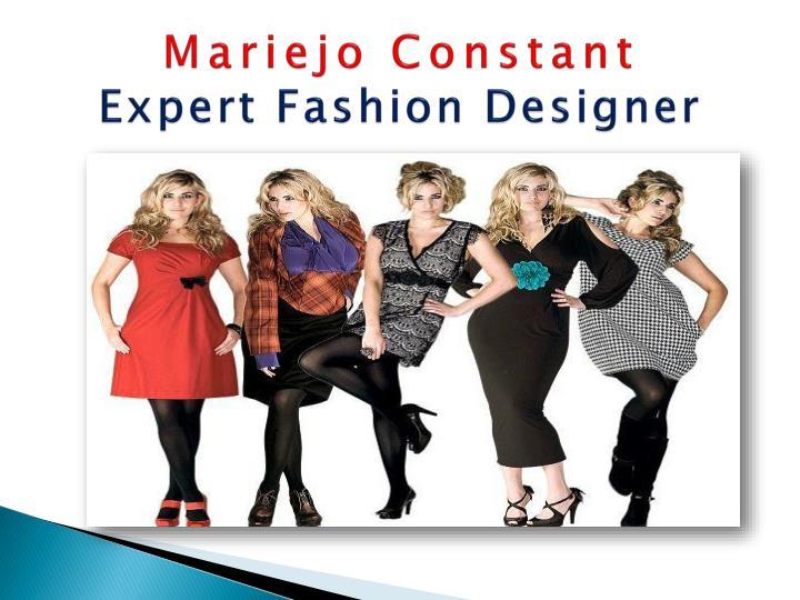 Mariejo constant expert fashion designer