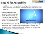 sage x3 for adaptability