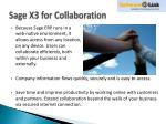 sage x3 for collaboration
