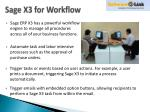 sage x3 for workflow