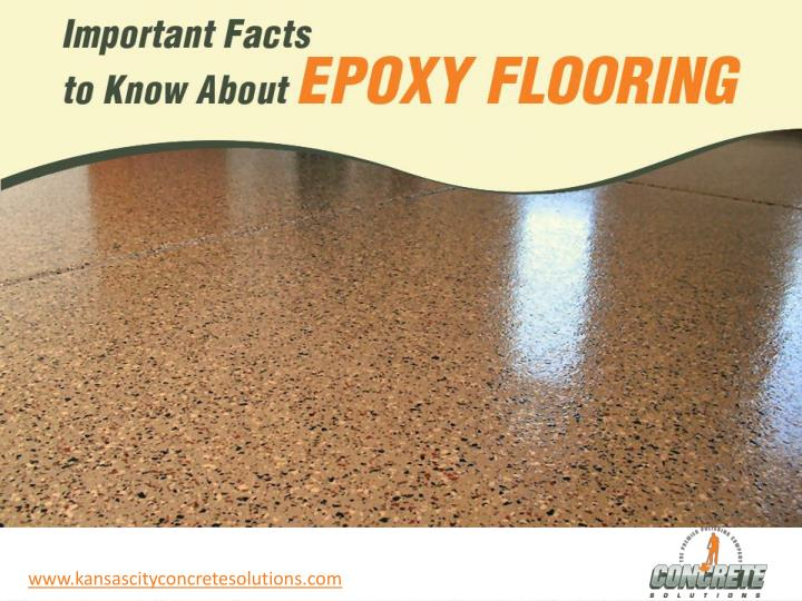 Important facts to know about epoxy flooring