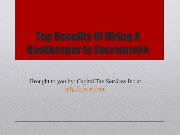 top benefits of hiring a bookkeeper in sacramento n.