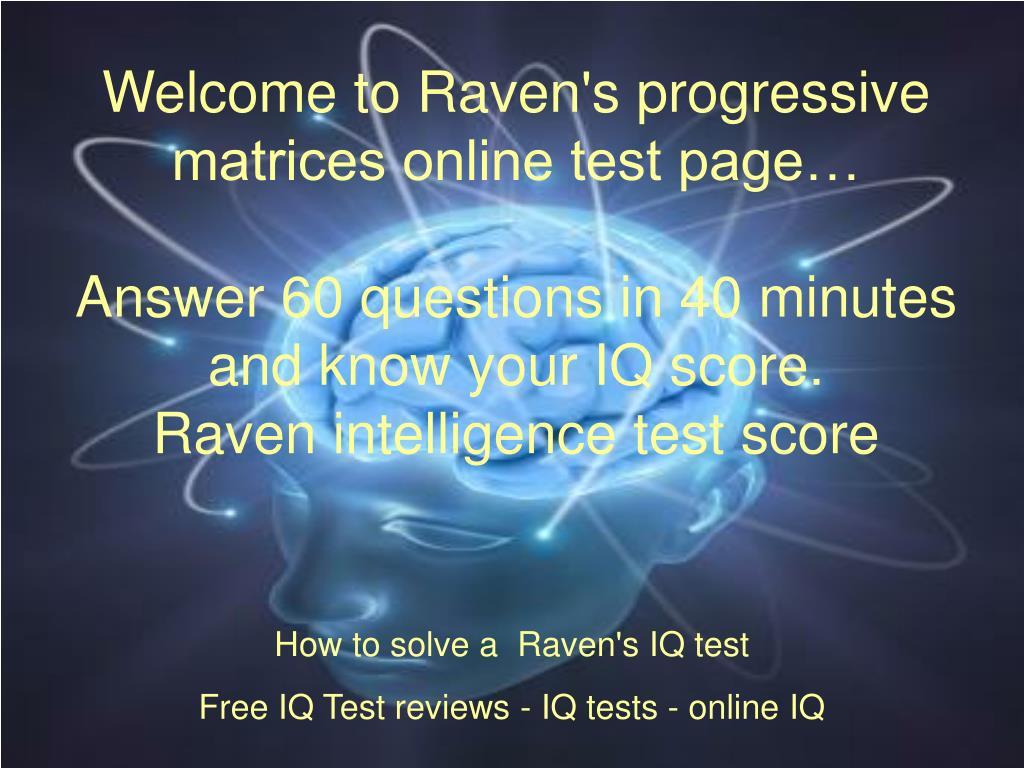 Raven test download