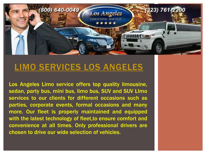 limo services los angeles n.