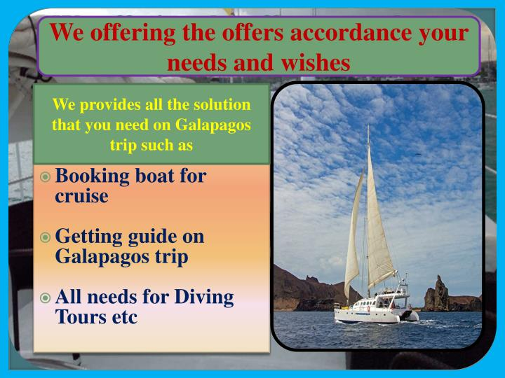We offering the offers accordance your needs and wishes