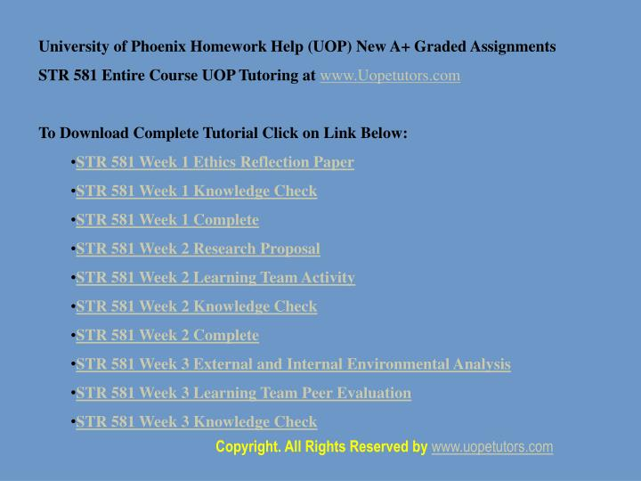 university of phoenix homework help Uop final exam answers - questions 1 this article covers the topic for the university of phoenix fin 370 final exam (newest.