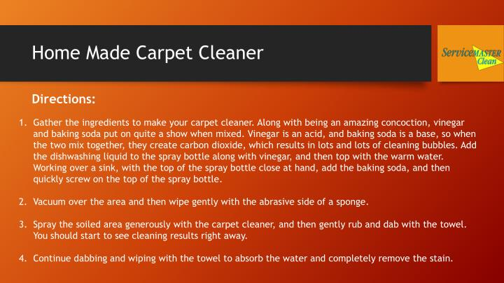 Home Made Carpet Cleaner