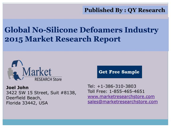 global no silicone defoamers industry 2015 market research report n.