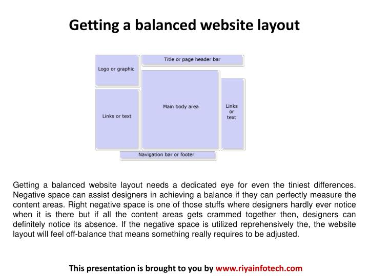 Getting a balanced website layout
