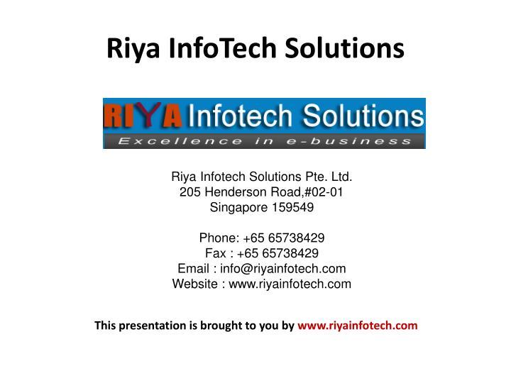 Riya InfoTech Solutions