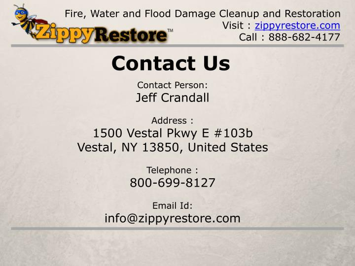 Fire, Water and Flood Damage Cleanup and Restoration